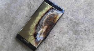 October 26, 2016 - Seoul, South Korea: Samsung Electronics Corporate Galaxy Note 7 battery explosion after burning shot. Hundreds of South Korean Galaxy Note 7 smartphone owners filed a lawsuit against Samsung Electronics on Oct. 24, 2016, over its handling of the fire-prone device in the first series of legal actions facing the South Korean tech giant at home. (Polaris) © PHOTO NEWS / PICTURES NOT INCLUDED IN THE CONTRACTS *** local caption *** 05642861