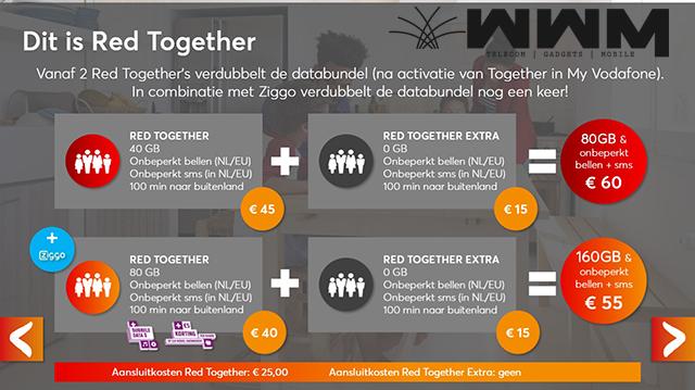 Voordeel Red Together abonnementen voor Ziggo abonnees (1)