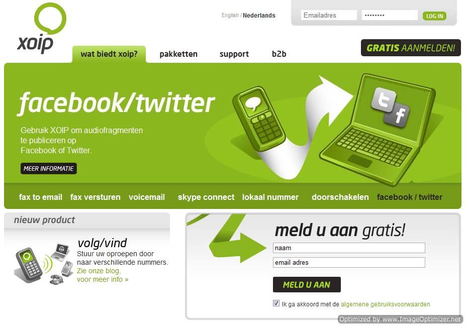 Xoip-Facebook-Twitter
