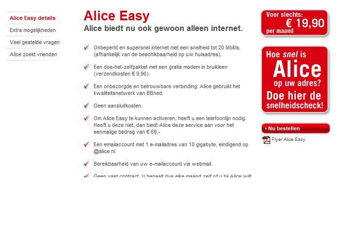 Alice Internet Only